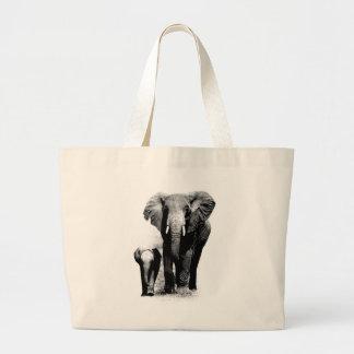 Elefantes Bolsa Tela Grande