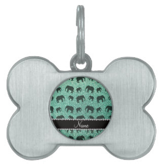 Elefantes conocidos personalizados del brillo del  placa mascota