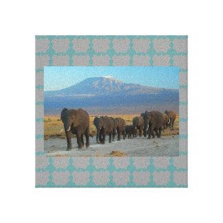 Elefantes de África del safari Lienzo Envuelto Para Galerías