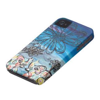Elefantes de la flor iPhone 4 protector