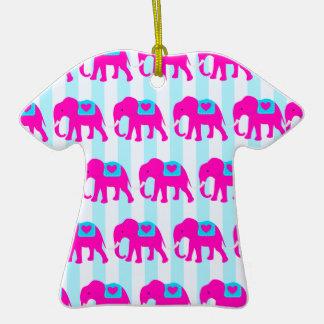 Elefantes de las azules turquesas del trullo de la adorno para reyes