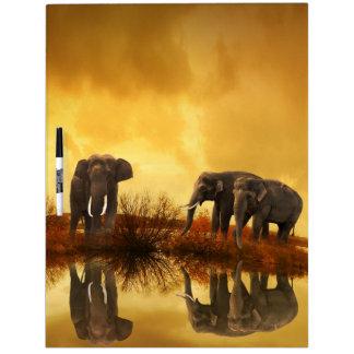 Elefantes de Tailandia 1 tablero del Seco-Borrado Pizarra