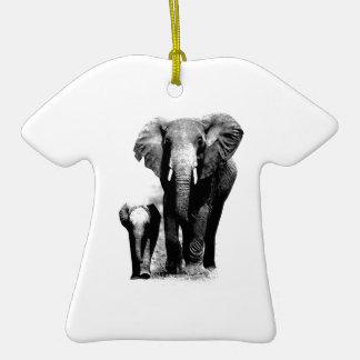 Elefantes Adorno De Cerámica En Forma De Camiseta