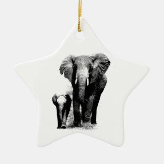 Elefantes Adorno De Cerámica En Forma De Estrella