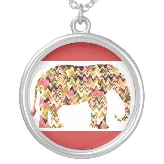 Elefantes del amor - inteligentes y animal amistos colgante redondo