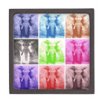 Elefantes del arte pop caja de regalo de calidad