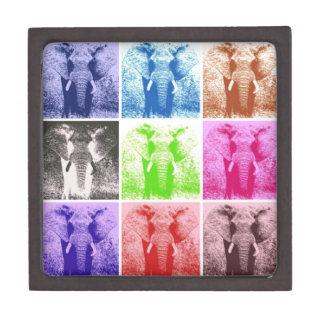 Elefantes del arte pop cajas de joyas de calidad