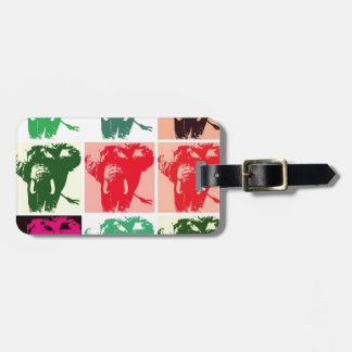 Elefantes del arte pop etiqueta de equipaje