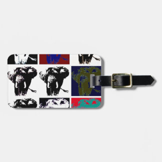 Elefantes del arte pop etiqueta para maleta
