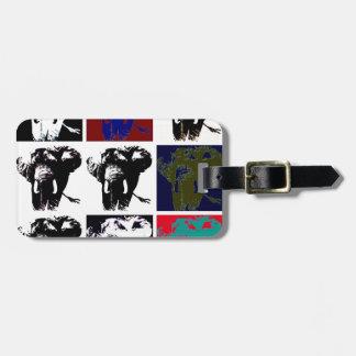 Elefantes del arte pop etiquetas para maletas