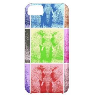 Elefantes del arte pop funda para iPhone 5C