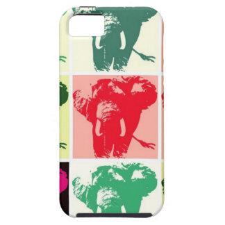 Elefantes del arte pop iPhone 5 carcasa
