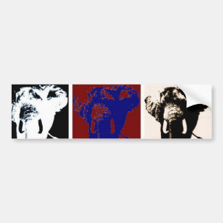 Elefantes del arte pop pegatina para auto