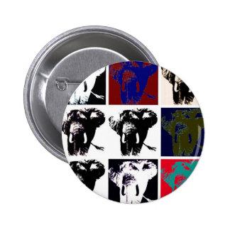 Elefantes del arte pop pin redondo de 2 pulgadas