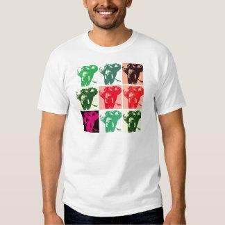 Elefantes del arte pop poleras