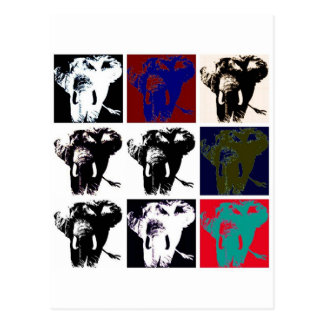 Elefantes del arte pop tarjetas postales
