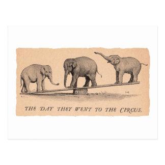 elefantes del circo postal
