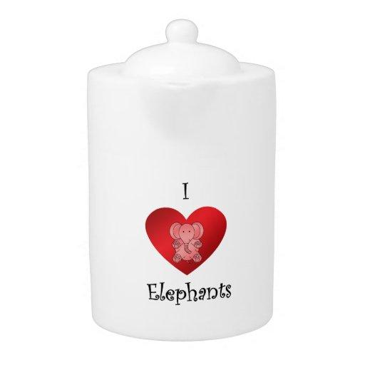 Elefantes del corazón I en rojo
