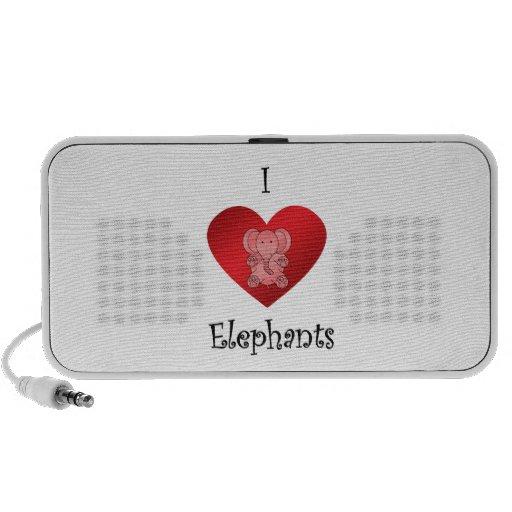 Elefantes del corazón I en rojo iPod Altavoz