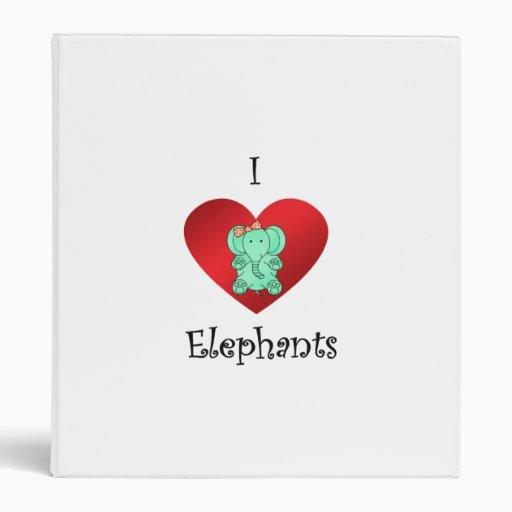 Elefantes del corazón I en verde y rojo