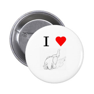 Elefantes del corazón I Pin Redondo 5 Cm