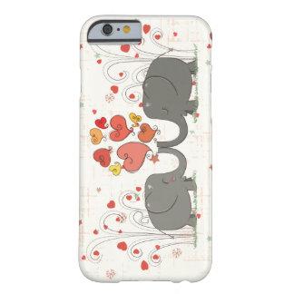 Elefantes del el día de San Valentín Funda De iPhone 6 Barely There
