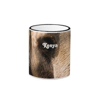 Elefantes del Kenyan Taza De Café