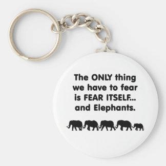 Elefantes del miedo sí mismo llavero redondo tipo pin