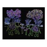 Elefantes eléctricos tarjetas postales