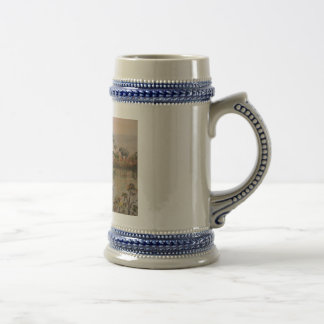 """Elefantes en cerveza Stein del agujero de agua"" Jarra De Cerveza"