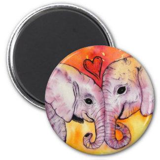 Elefantes en imán del amor