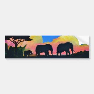 Elefantes en la oscuridad pegatina para auto