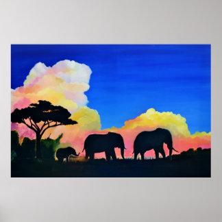 Elefantes en la oscuridad póster