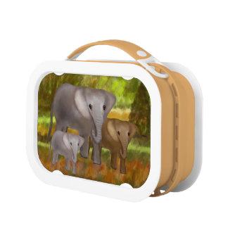 Elefantes en la selva tropical