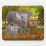 Elefantes en la selva tropical Mousepad Alfombrilla De Raton