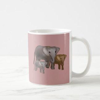 Elefantes en la taza salvaje