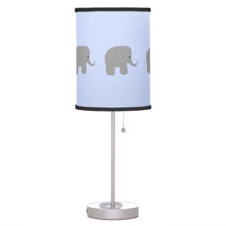 Elefantes grises caprichosos lámpara de mesilla de noche