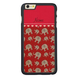 Elefantes grises rojos conocidos personalizados