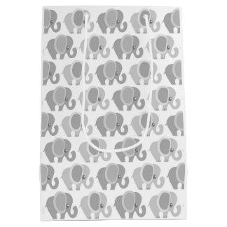 Elefantes hermosos del bebé bolsa de regalo mediana