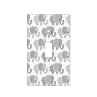 Elefantes hermosos del bebé placa para interruptor