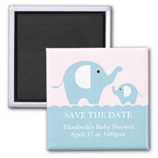 Elefantes Imán Cuadrado