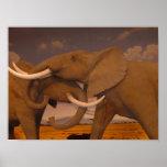 ¡Elefantes!  Impresión enmarcada Impresiones