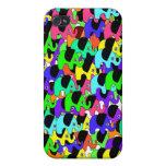 Elefantes lindos del arco iris iPhone 4 cobertura