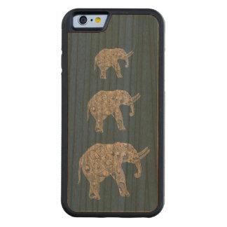 Elefantes lindos femeninos de moda elegantes funda de iPhone 6 bumper cerezo