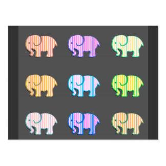 Elefantes lindos femeninos modernos de moda postales