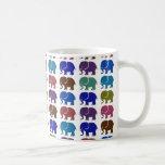 elefantes lindos tazas de café