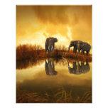 Elefantes Membrete Personalizado