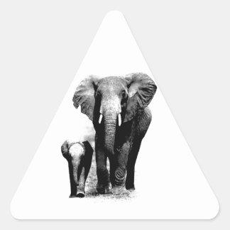 Elefantes Pegatina Triangular