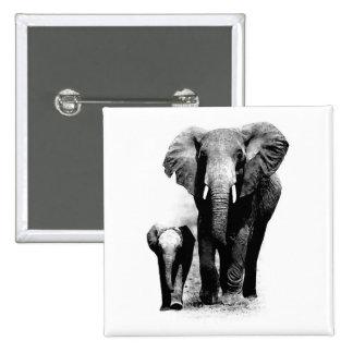 Elefantes Pin Cuadrado