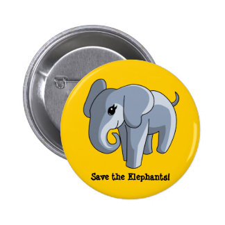 Elefantes Pin Redondo De 2 Pulgadas